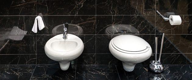 Czarne płytki łazienkowe