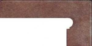 GRES ARAGON Rubino cokół stopnicowy prawy 8x39 cm