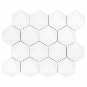 Dunin Hexagonic White 30x26 cm