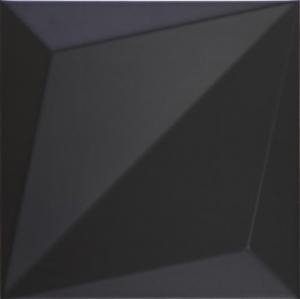 Dune Shapes Origami Black 25x25 cm 187343