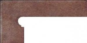 GRES ARAGON Rubino cokół stopnicowy lewy 8x39 cm