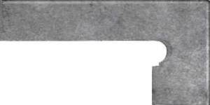GRES ARAGON Acero cokół stopnicowy prawy 8x39 cm