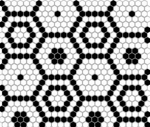 Dunin Mini Hexagon B&W Bee 26x30 cm