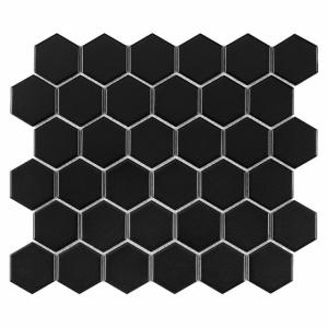 Dunin Hexagonic Hexagon Black 51 Matt 282x271 cm