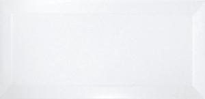 Ribesalbes Bisel Blanco Brillo 10x20 cm
