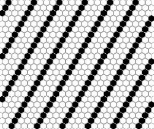 Dunin Mini Hexagon B&W Lean 26x30 cm