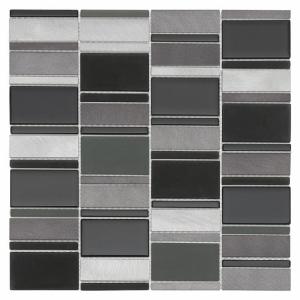 Mozaika Dunin DINOX Metallic Allumi Piano Grey 73 29.3x29.8 cm