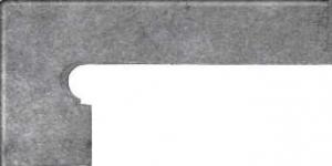 GRES ARAGON Acero cokół stopnicowy lewy 8x39 cm