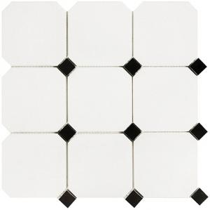 Mozaika Dunin B&W Octagon 100, mozaika kamienna 30.5x30.5
