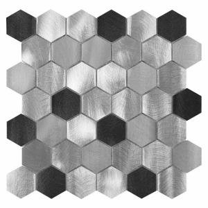 Mozaika Dunin DINOX Metallic Allumi Grey Hexagon Mix 48 28.7x29.9 cm