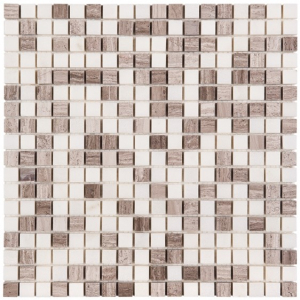 Mozaika Dunin Woodstone Grey Mix 15 30.5x30.5 cm