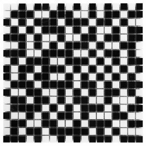 Mozaika Dunin Black&White Pure Black Mix 15 30.5x30.5 cm