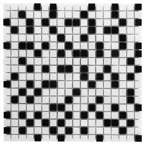 Mozaika Dunin Black&White Pure White Mix 15 30.5x30.5 cm
