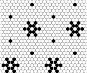 Dunin Mini Hexagon B&W Snow 26x30 cm
