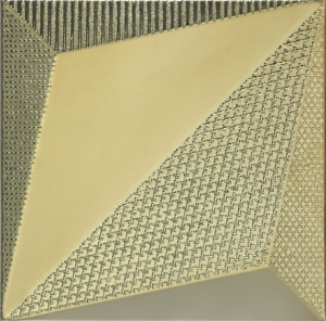 Dune Shapes Origami Gold 25x25 cm 187350