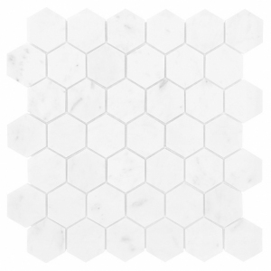 Mozaika Dunin Black&White Carrara White Hexagon 48 29.8x30.2 cm