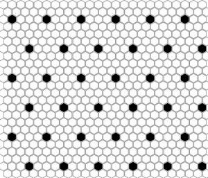 Dunin Mini Hexagon B&W Spot 26x30 cm