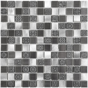 Mozaika Dunin DINOX Metallic Allumi Grey Mix 23 30x30 cm