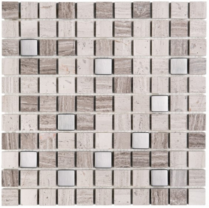 Mozaika Dunin Woodstone Grey Mix 25 30.5x30.5 cm
