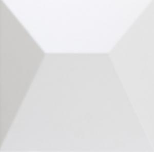 Dune Shapes Japan White 25x25 cm