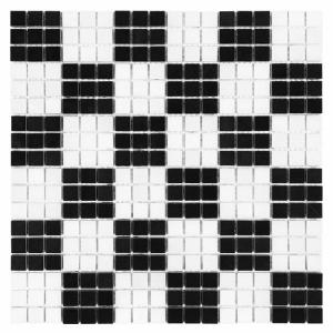 Mozaika Dunin Black&White Pure B&W Chess 15 30.5x30.5 cm