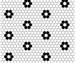 Dunin Mini Hexagon B&W Flower 26x30 cm