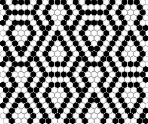 Dunin Mini Hexagon B&W Lace 26x30 cm
