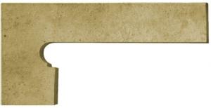 GRES ARAGON Orion Beige Zanquin Izda cokół stopnicowy lewy 20x39 cm